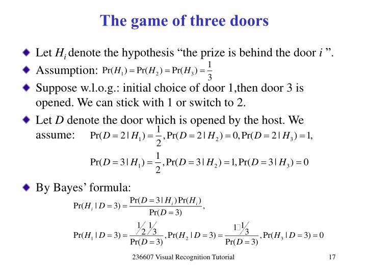The game of three doors