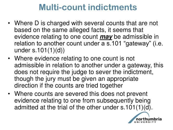 Multi-count indictments