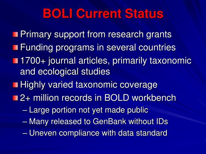 BOLI Current Status