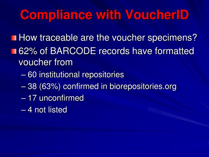 Compliance with