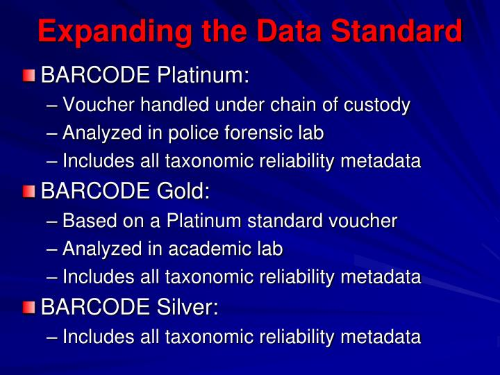 Expanding the Data Standard