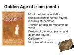 golden age of islam cont