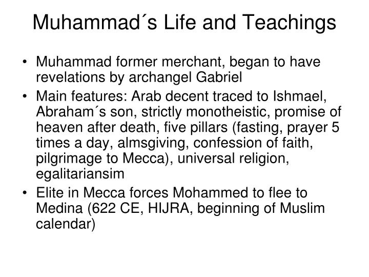 the life of muhammad and the spread of islam essay In islam, faith is not merely professing beliefs it is the very impetus of life coupled with belief in allah and prophet muhammad (peace and blessings to find out the moral and the ethical quality of islam which immensely helped its spread one only has to take a glimpse of the moral code adopted by the.