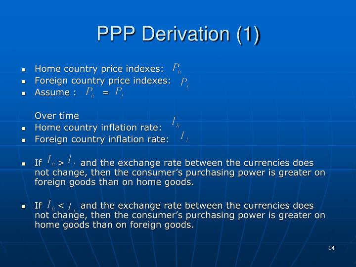 PPP Derivation (1)