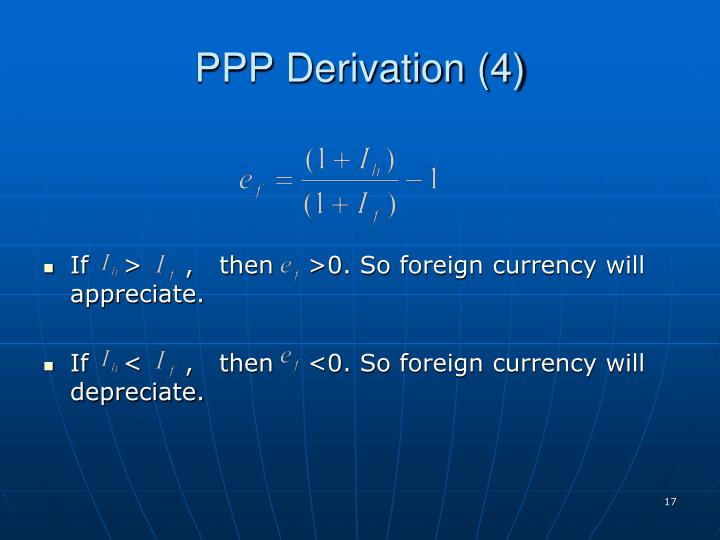 PPP Derivation (4)