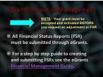 egrants financial management