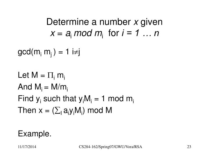 Determine a number