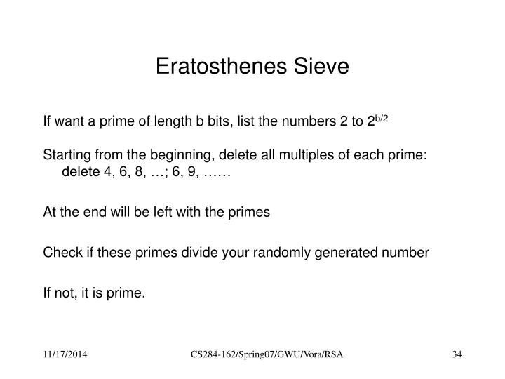 Eratosthenes Sieve