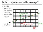 is there a pattern to cell crossings