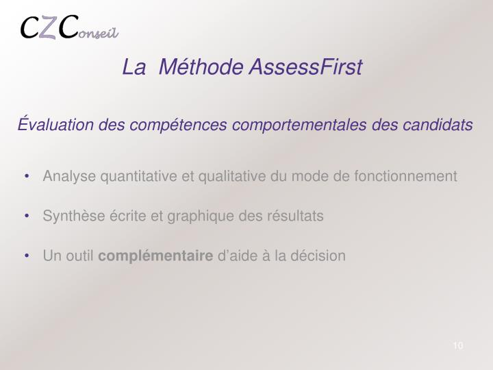 La  Méthode AssessFirst
