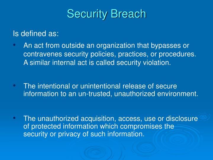 Security Breach
