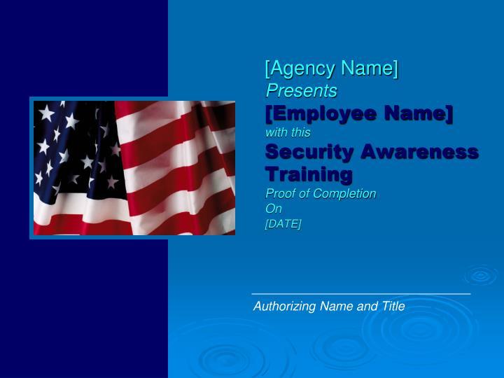 [Agency Name]