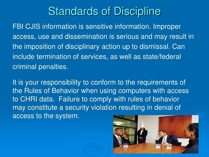 Standards of Discipline
