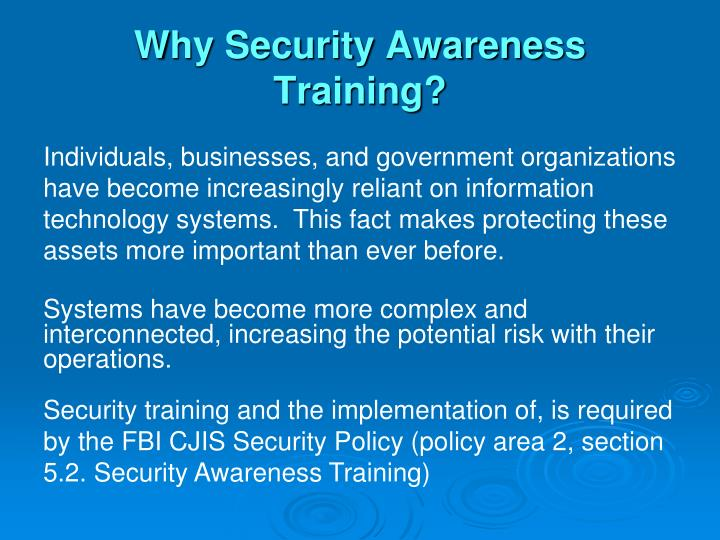 Why Security Awareness Training?