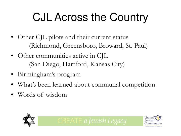 CJL Across the Country