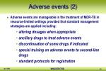 adverse events 2