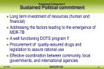 framework component 1 sustained political commitment