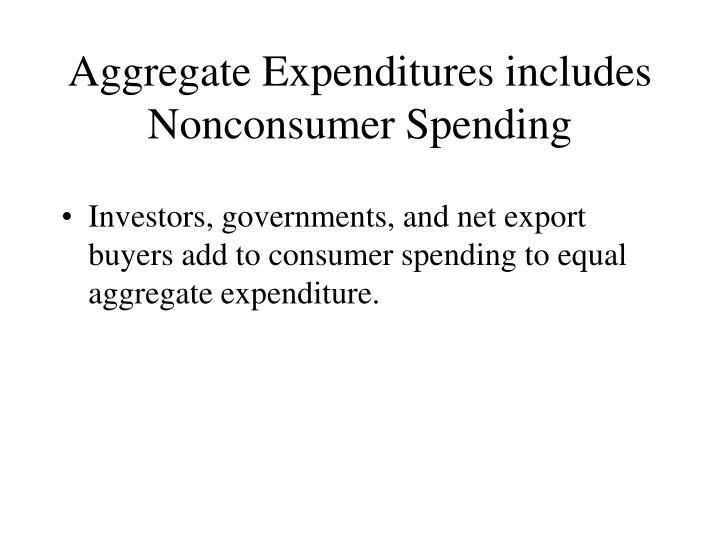 Aggregate Expenditures includes Nonconsumer Spending