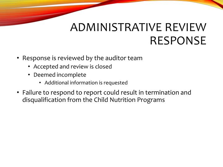 Administrative Review Response