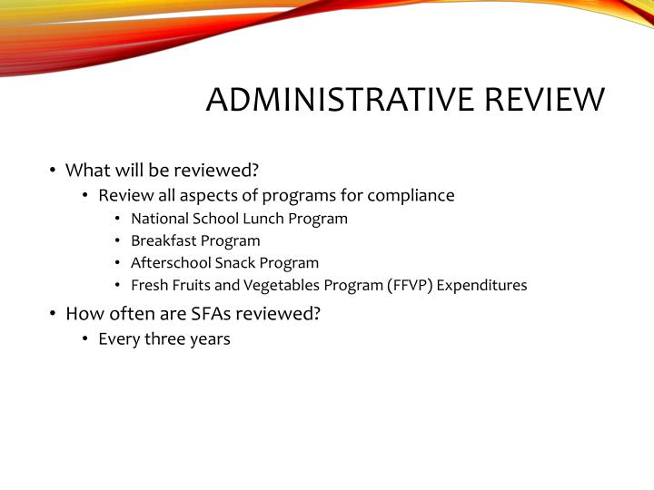 Administrative review1