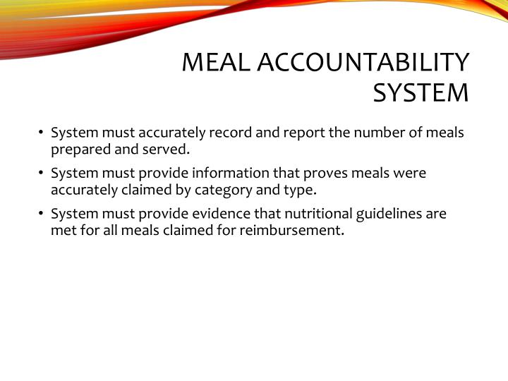 Meal Accountability System