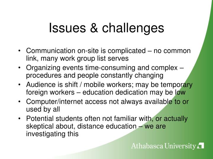 Issues & challenges