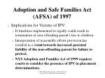 adoption and safe families act afsa of 19971