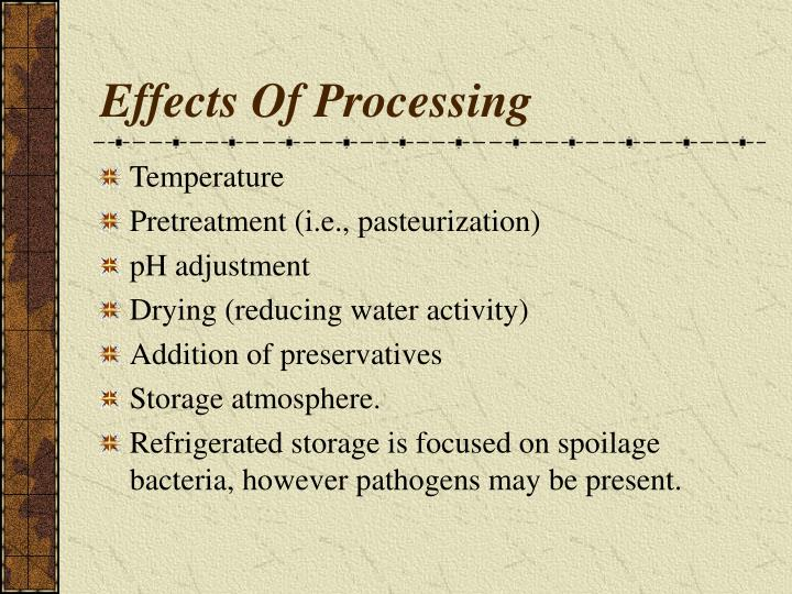 Effects Of Processing