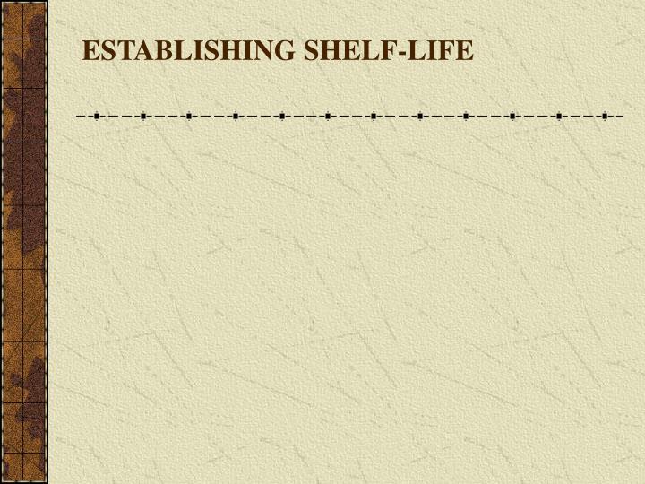 ESTABLISHING SHELF-LIFE