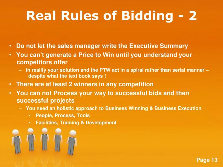 Real Rules of Bidding - 2