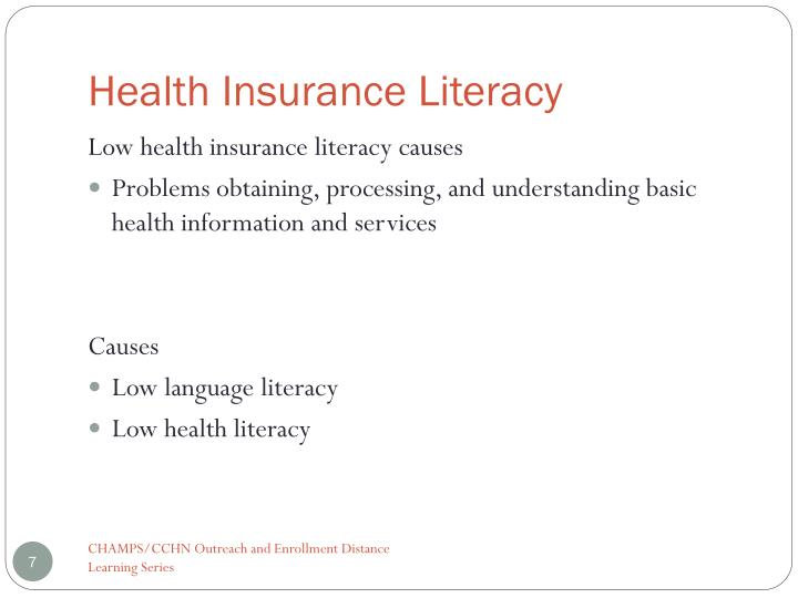Health Insurance Literacy