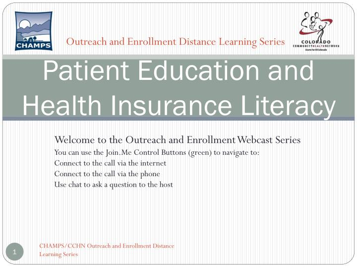 Patient education and health insurance literacy