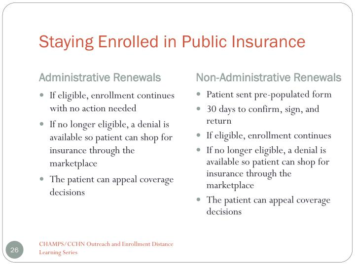 Staying Enrolled in Public Insurance