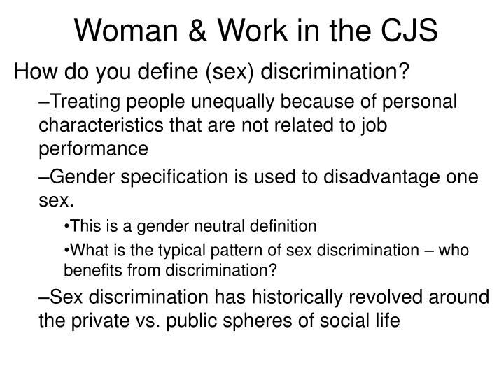 Woman work in the cjs