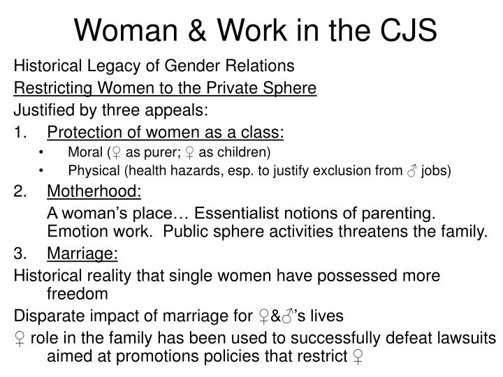Woman work in the cjs1