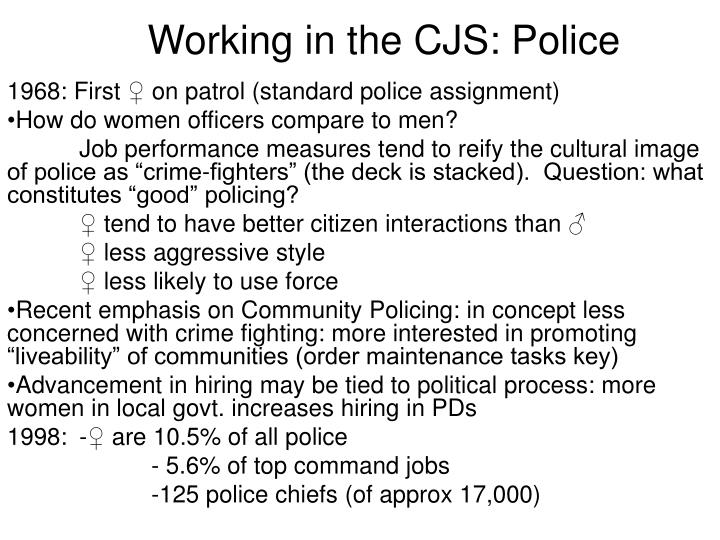Working in the CJS: Police