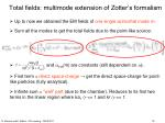 total fields multimode extension of zotter s formalism