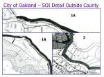 city of oakland soi detail outside county