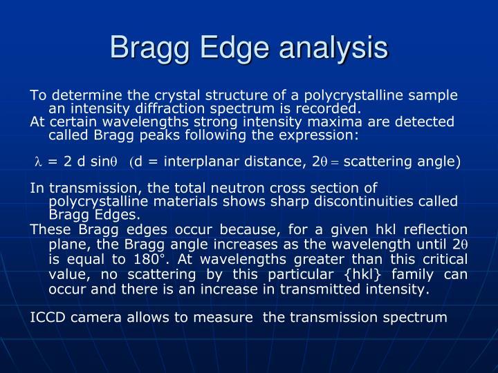 Bragg Edge analysis