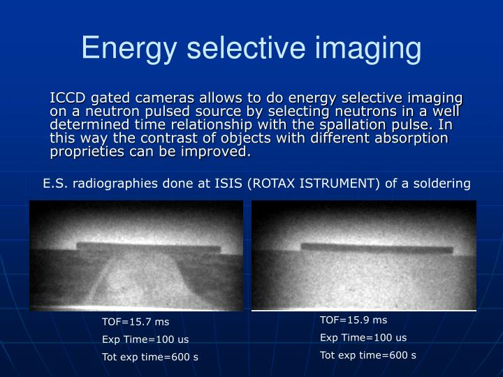Energy selective imaging