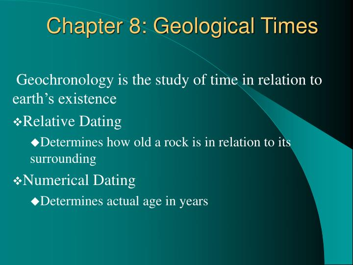 Chapter 8 geological times