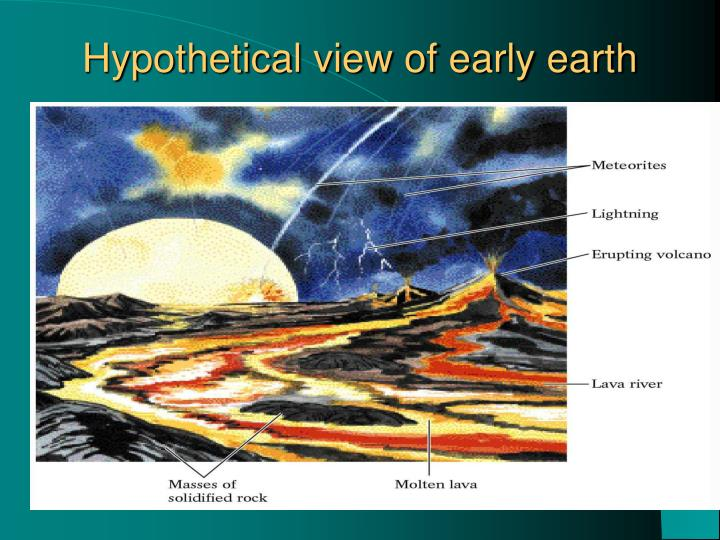 Hypothetical view of early earth