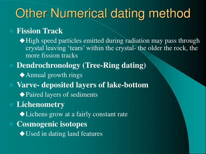 Other Numerical dating method