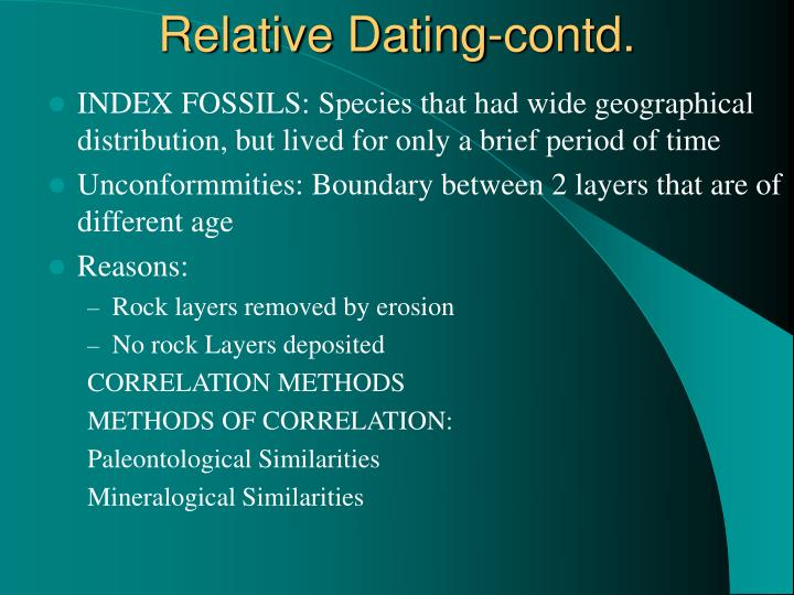 Relative Dating-contd.