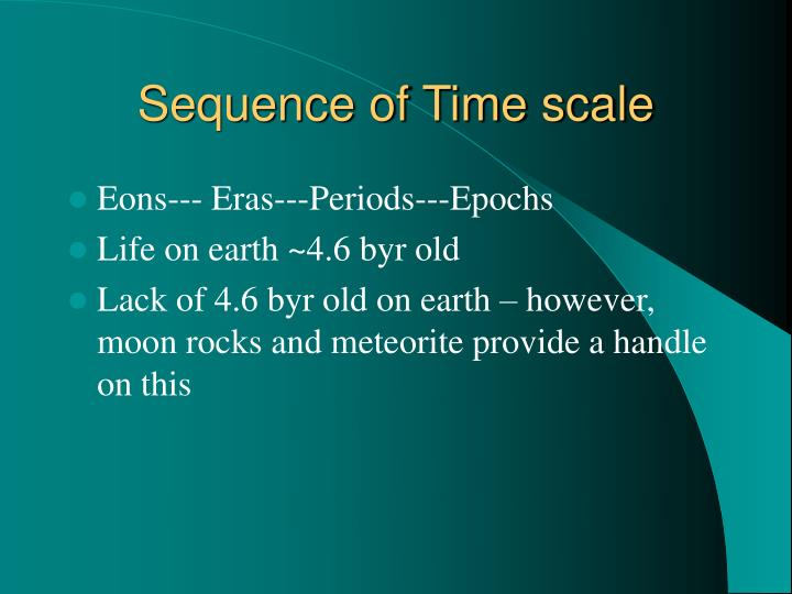 Sequence of Time scale
