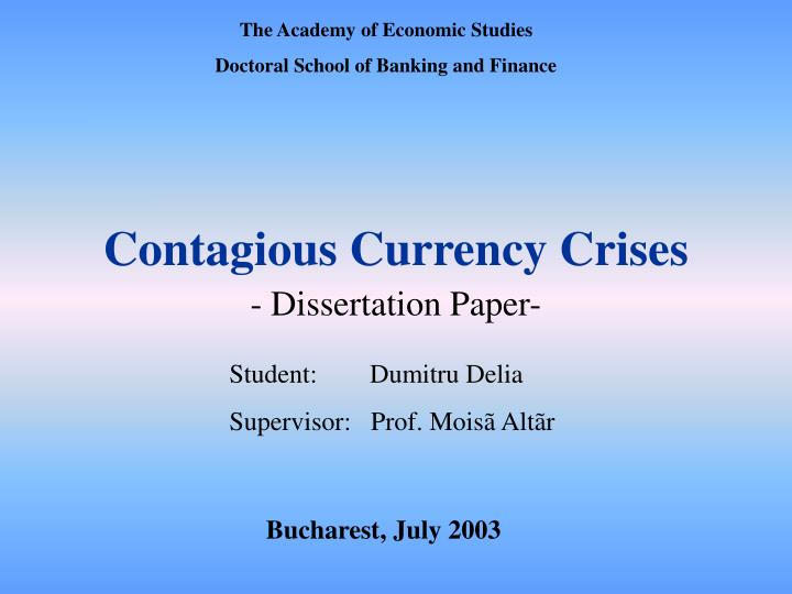 contagious currency crises n.