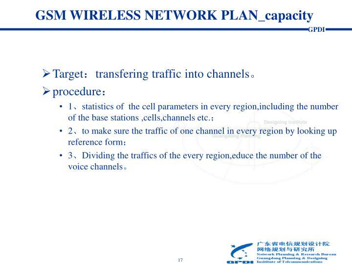 GSM WIRELESS NETWORK PLAN_capacity