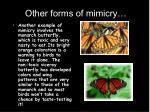 other forms of mimicry
