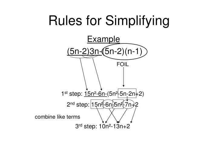 Rules for Simplifying