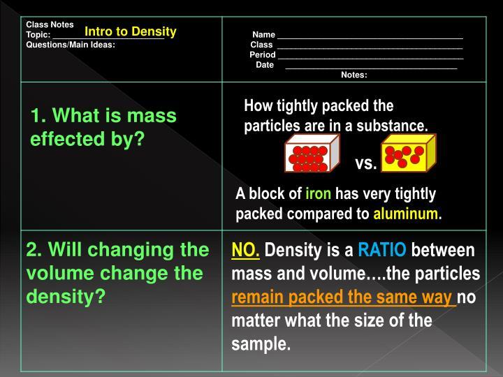 Intro to Density